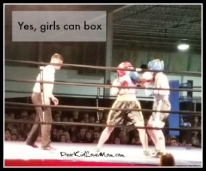 Yes, girls can box. DearKidLoveMom.com
