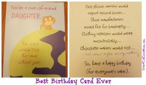 Best Birthday Card Ever. DearKidLoveMom.com