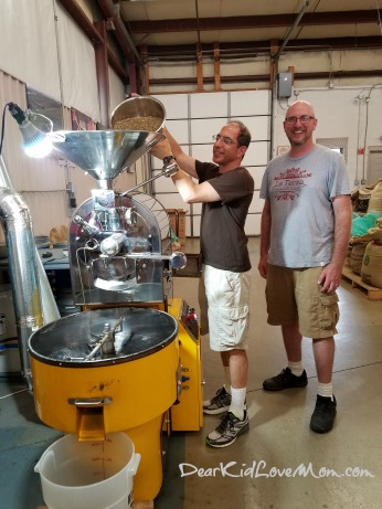 Dad helped roast the Sumatran beans at La Terza. DearKidLoveMom.com
