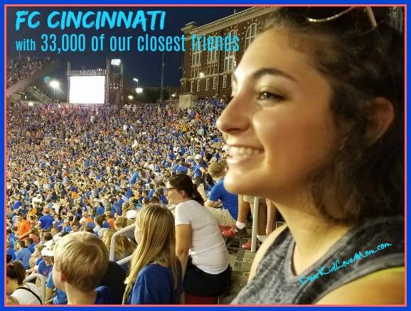 FC Cincinnati Soccer and Pi. DearKidLoveMom.com