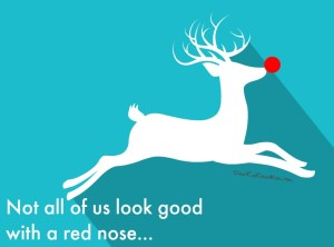 Not all of us look good with a red nose. DearKidLoveMom.com