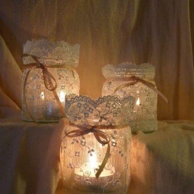 barattoli trasformati in lanterne