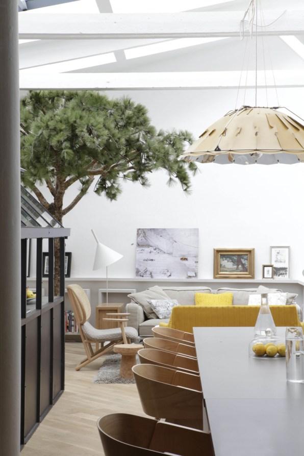Spazio e aria in una casa che delizia la vista