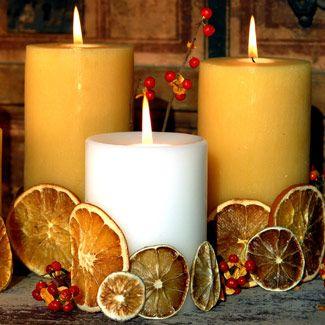 Fette d'arancia essiccate per profumare e decorare