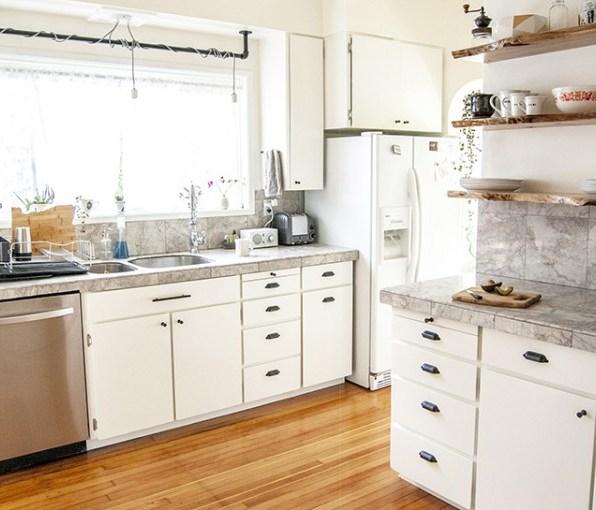 Rinnovare La Cucina Con Stile Sostituire I Pensili Con Mensole Sospese