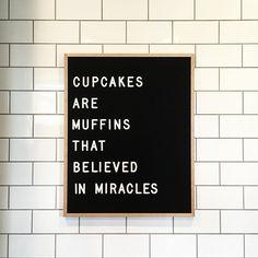 i cupcake sono dei muffin che credono nei miracoli