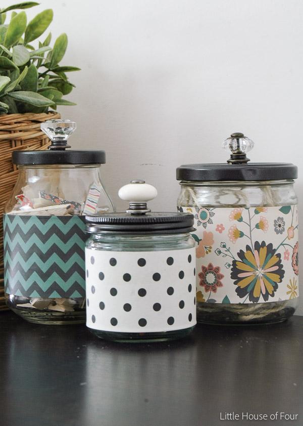 Stylish Recycled Storage Jars-1085