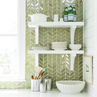 white-kitchen-green-herringbone-tile-backsplash