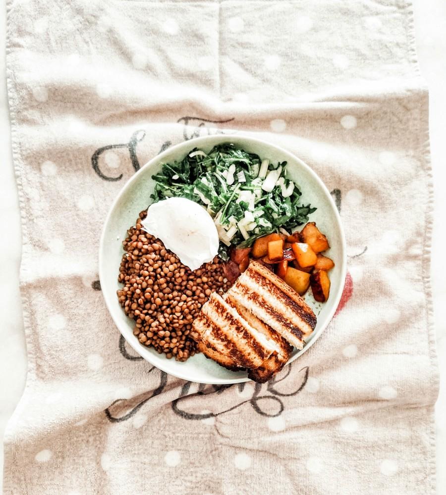 υγιεινή σαλάτα φακές