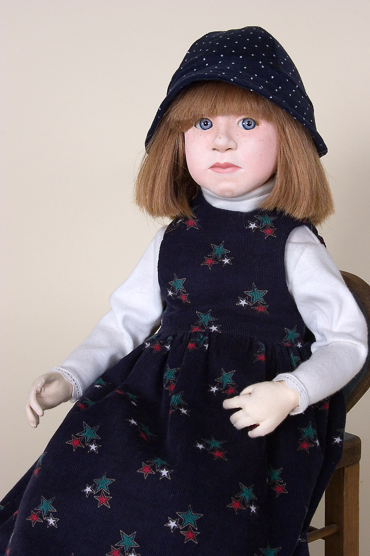Sara Cloth One Of A Kind Art Doll By Kate Lackman