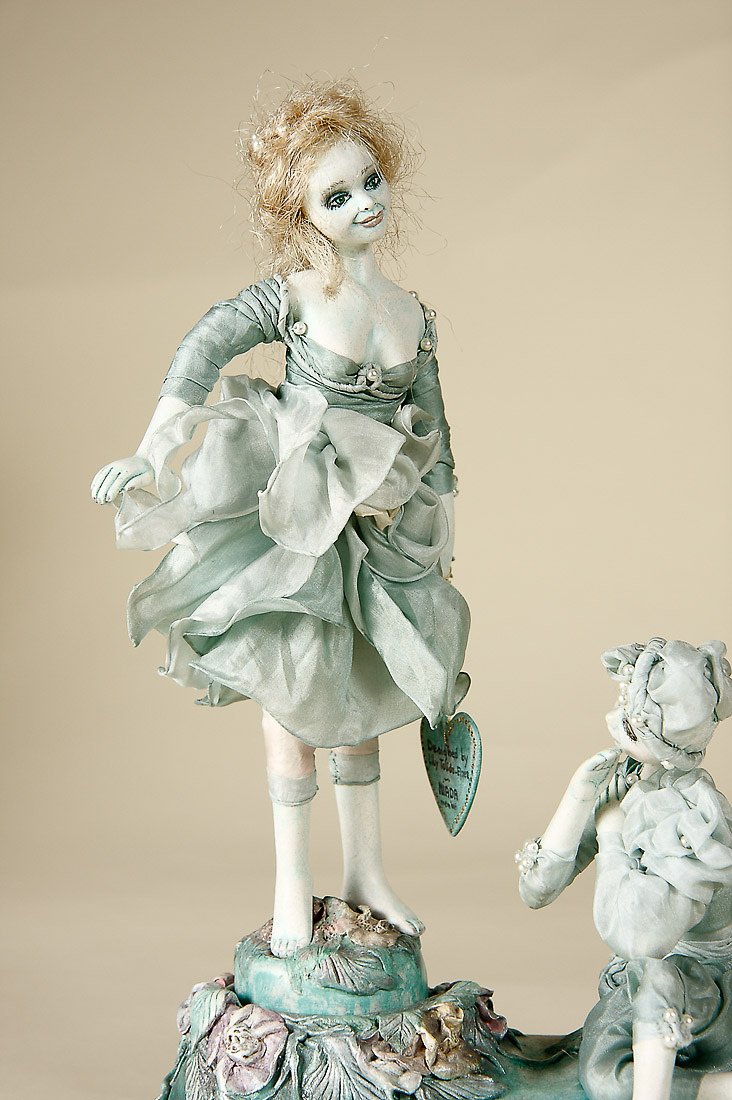 Sea Foam Dancers Musical Paperclay Art Doll By Lilian Tolido Elzer