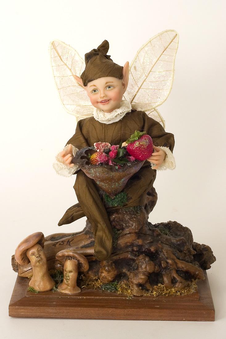 Woodland Elf Polymer Clay Limited Edition Art Doll By Linda Kertzman