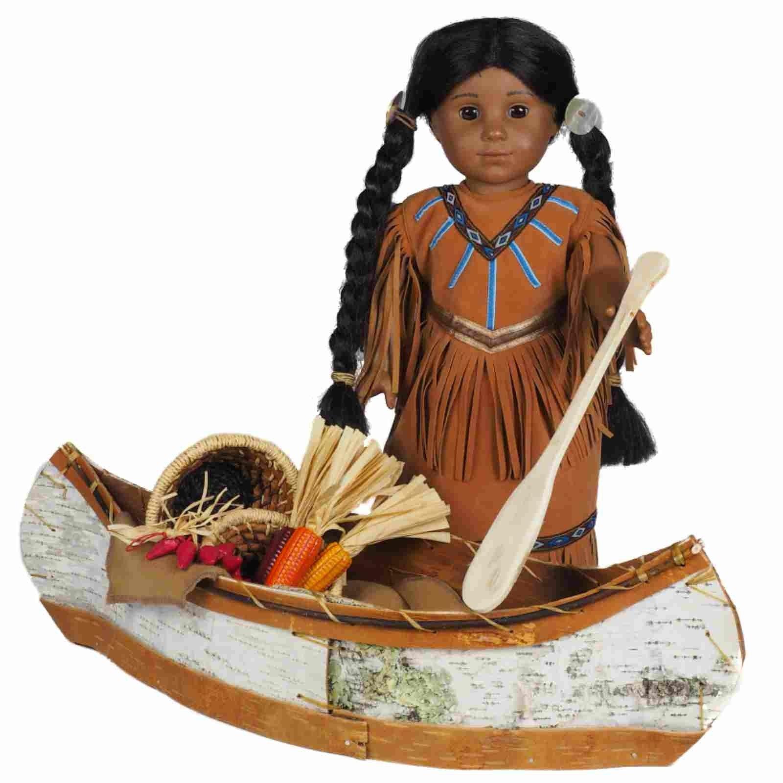 Native American Heritage Canoe For 18 American Girl
