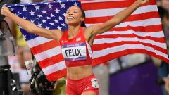 Olympian Allyson Felix breaks one of Usain Bolt's world records 10 months after giving birth