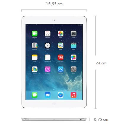 dimensiones iPad Air