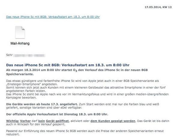 correo iPhone 5c 8GB