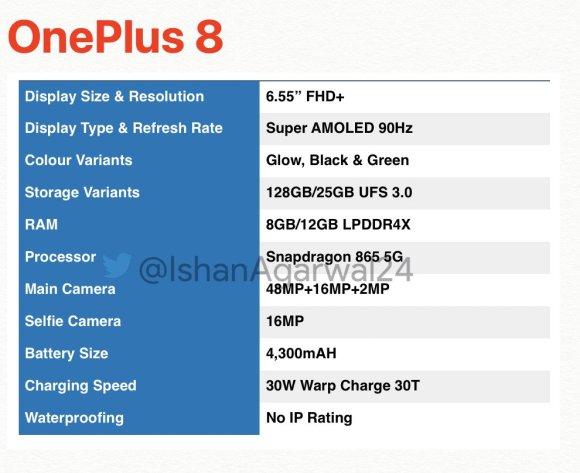 leak OnePlus 8