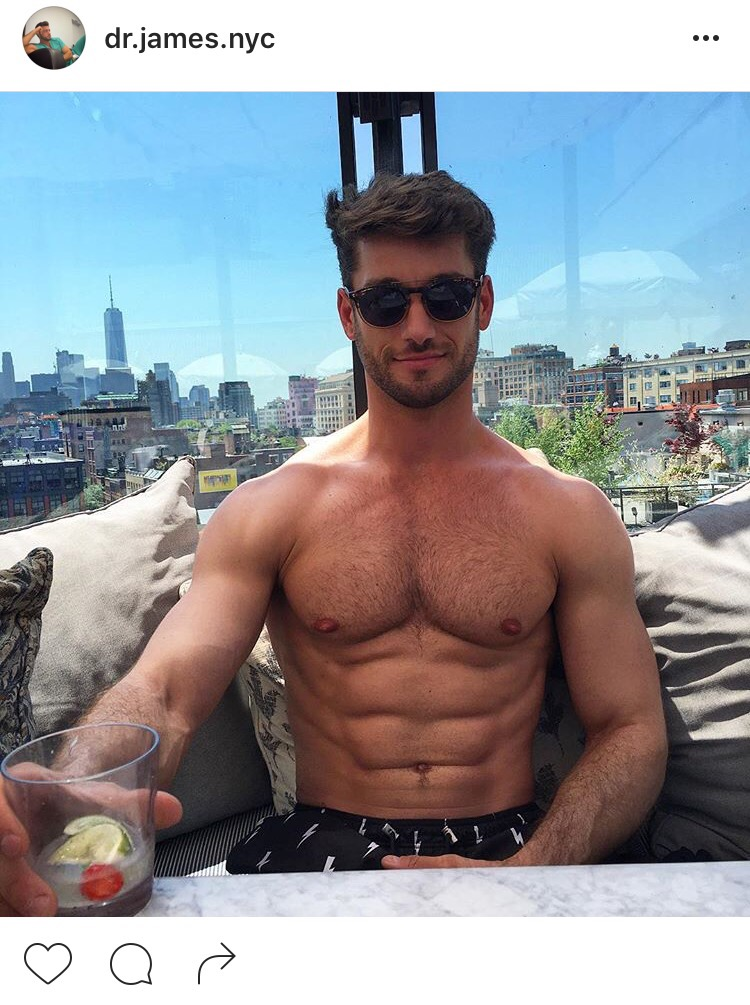 30-year old Justin James is a doctor based in New York with the body of a  Greek God. The only thing about him more on point than his body is his hair.