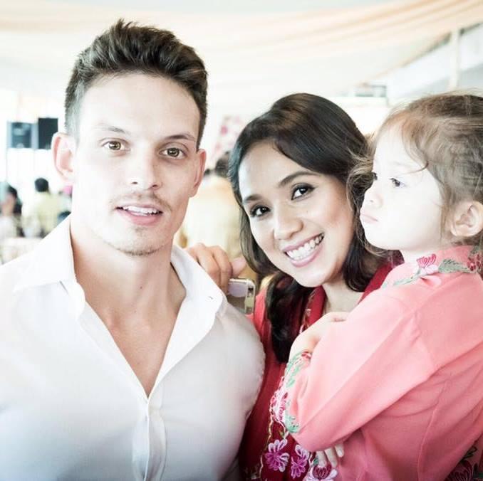 Luke Newton and Wife