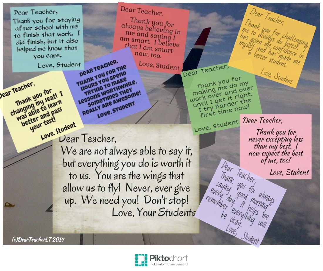 Unspoken Teacher Thanks Dear Teacher Love Teacher