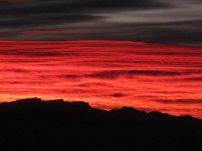 Fiery sunrise on the South Rim
