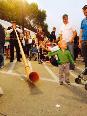 Cheesedays - being serenaded by the alpine horn
