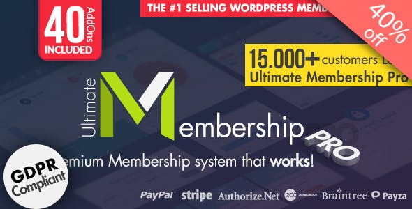 Ultimate Membership Pro – WordPress Membership Plugin