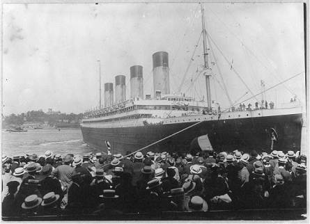Olympic arriving in New York