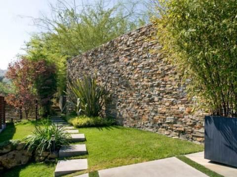 steinmauern im garten steinmauer im garten - hangbefestigung, die sicht