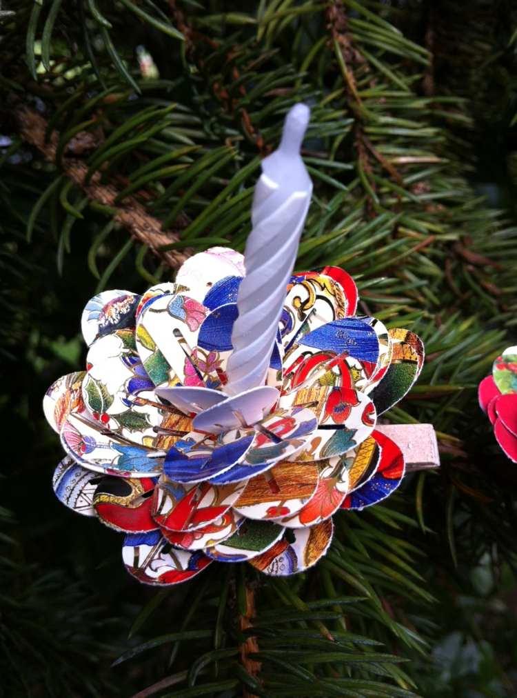 Weihnachtsbasteln Mit Papier Upcycling Ideen Fr