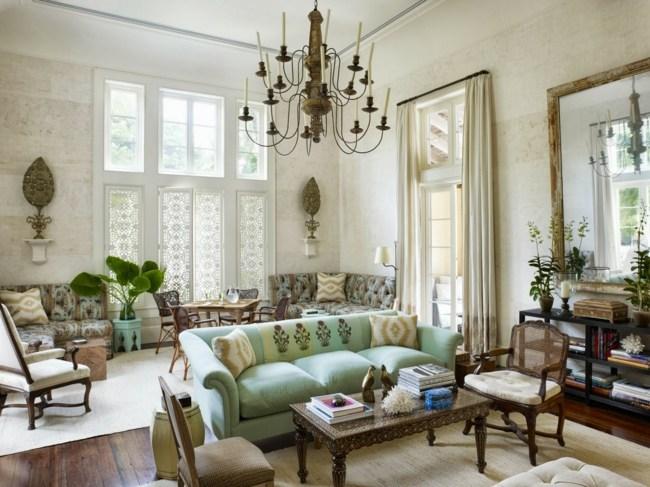 Eklektische Einrichtung Klassischen Und Modernen Wohnstil