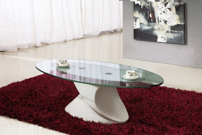 Glas Und Wei Couchtisch Design Ideen Fr Das Moderne