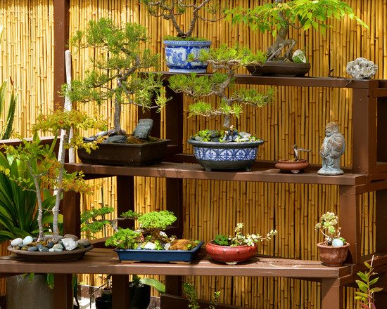 34 Ideen für Sichtschutz im Garten mit dekorativem Zaun aus Bambus