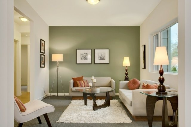 Paint Color For Green Sofa. the modern home decor interior green ...