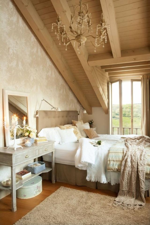 55 Schlafzimmer Ideen - Gestaltung im Shabby Chic-Look