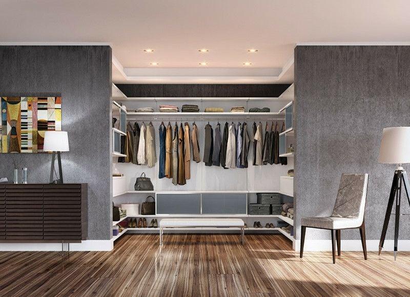 Begehbarer Kleiderschrank selber bauen - 50 Schlafzimmer