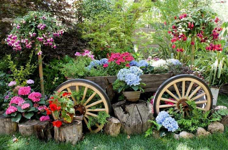 Gartendeko aus alten Sachen - 31 kreative Ideen