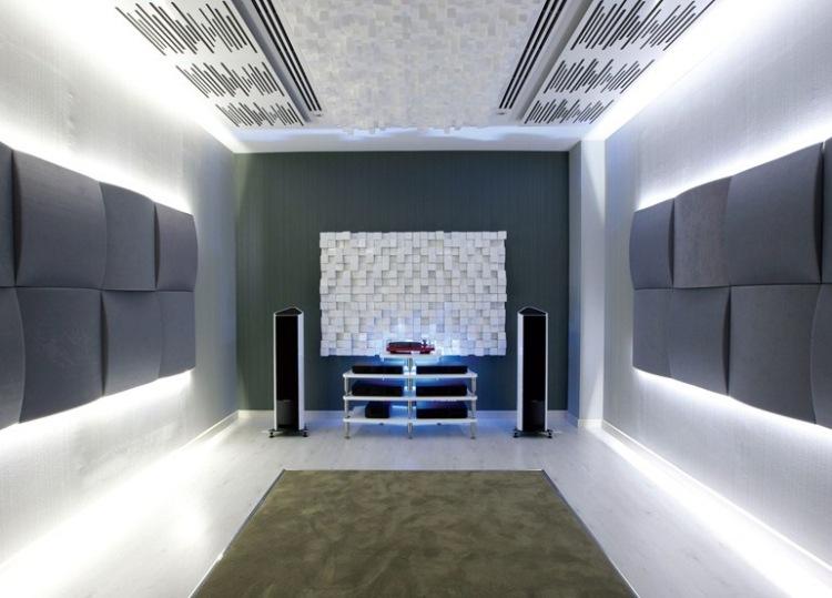 Akustikplatten Mit Indirekter Beleuchtung Betont