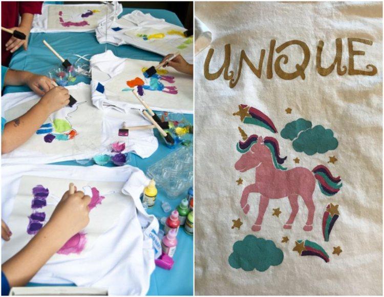 T Shirt Bemalen Und Selbst Bedrucken 22 Ideen Mit Textilfarbe