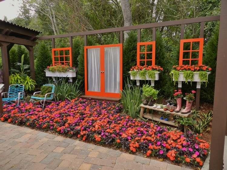 Alte Fenster zur Dekoration im Haus - 50 coole Ideen