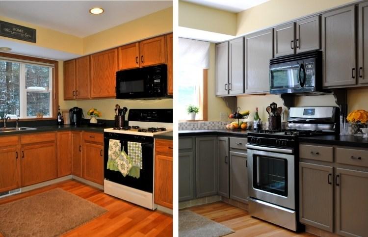 Küchenfronten austauschen - 37 Vorher-Nachher Beispiele