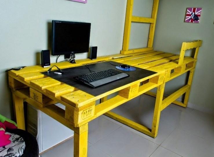 Schreibtisch Aus Paletten 2021