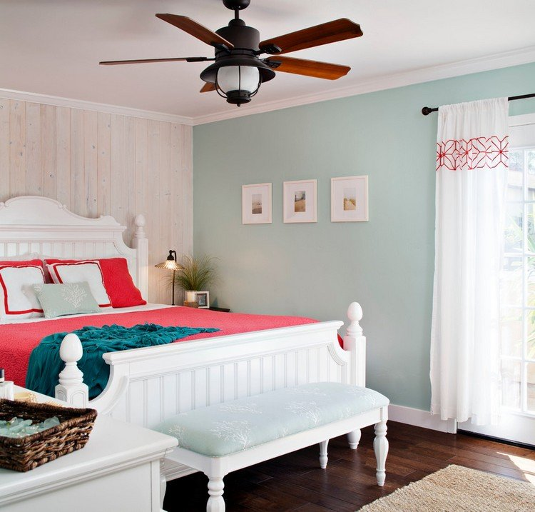 Coastal Themed Master Bedroom