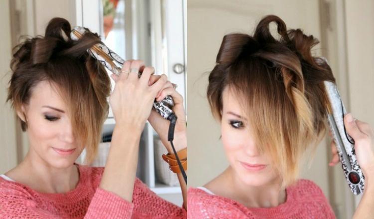 Beispiel Modell Frisur Kurze Haare Locken Drawing Apem