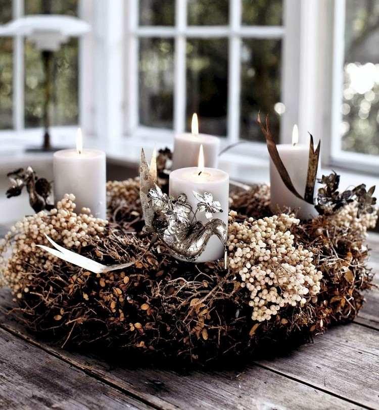 Moderner Adventskranz für eine schöne Weihnachtsdeko - 20 Ideen