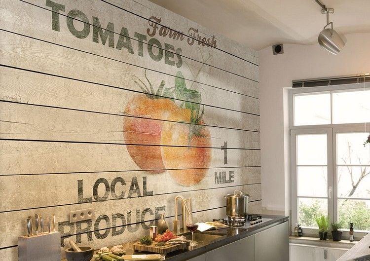 Tapete für Küche auswählen - 20 Ideen für Wandgestaltung in der Küche