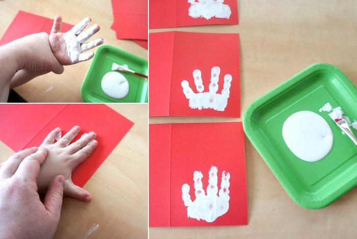 Wie Handabdruck Bilder Zu Weihnachten Gestalten