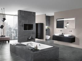 Badezimmer in Grau einrichten   40+ Ideen für Badfliesen ...