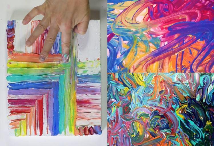 Einfache Bilder Mit Fingerfarben Frau Bers Webseite