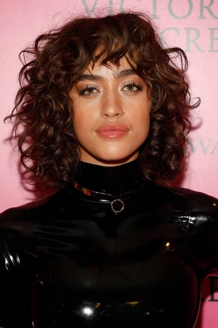 Curly Shag hairstyle Trend for shoulder-length hair style hair trends 2020